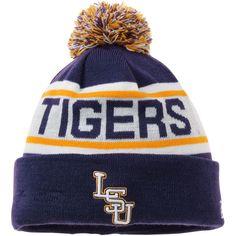 online retailer f7a0f a0c9d LSU Tigers Beanie Lsu Tigers, Winter Hats, Knitted Hats, Knit Beanie, Fan
