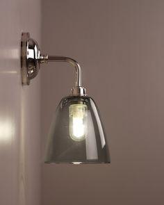 Nice Smoked Pixley Contemporary Bathroom Wall Light