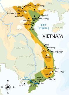 Image - Carte du Vietnam - Blog de flavienauvietnam - Skyrock.com