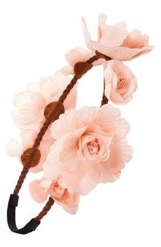 Creating festival vibes with this peach flower crown.