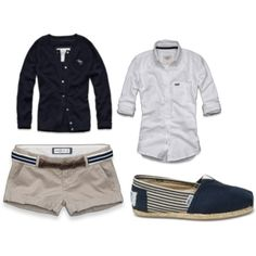 Nautical outfit! Love this look. I might to get those for Spring.