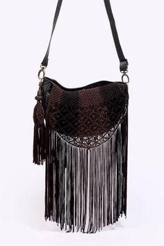 BL-NK Woven Fringe Bag