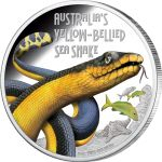 Deadly and Dangerous – Yellow-Bellied Sea Snake 2013 1 oz Silver Proof Coin Funnel Web Spider, Snake Images, Sea Snake, Saltwater Crocodile, Valuable Coins, Gold Money, Gold And Silver Coins, Silver Bullion, Proof Coins