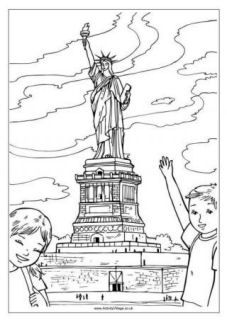 US Colouring Pages