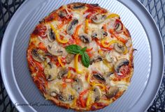 Gourmet Girl Cooks: Low Carb Herbed Pizza Crust -- NEW No-Flax Recipe!...