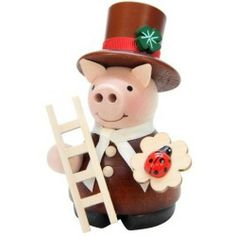 Ulbricht Lucky Pig Chimneysweep Incense Smoker Cheapest
