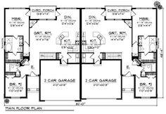 Ideas House Plans Duplex Layout For 2019 Kitchen Layout Plans, House Layout Plans, House Plans One Story, Kitchen Floor Plans, House Plans And More, Floor Plan Layout, Family House Plans, Country House Plans, Best House Plans