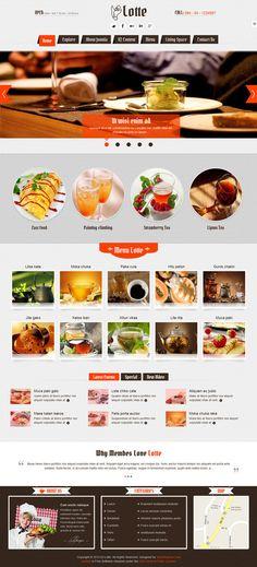 Web Design / #food, restaurant, concept, layout, web design