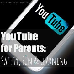 YouTube for Parents- great guide of how to set safety measures as well as filters and use YouTube for fun & learning purposes. This is a good resource for all adults and valuable information about all the different ways to use YouTube. sunshineandhurricanes.com