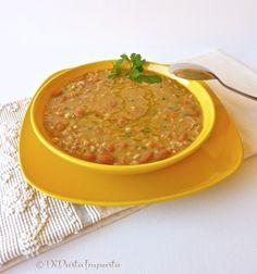 Di pasta impasta: Zuppa di fagioli con farro perlato... cottura in pentola a pressione