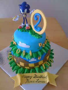 Sonic the Hedgehog cake :D