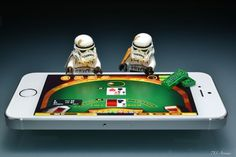 Blackjack - Gambling at Casino by 713 Avenue Lego Star Wars, Star Wars Art, Lego Stormtrooper, Starwars Lego, Lego Humor, Legos, Star Wars Figurines, Star War 3, Death Star