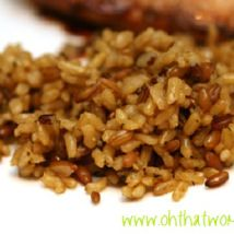Brown Rice Brown Rice, Meal Ideas, Grains, Bbq, Meals, Vegetables, Food, Barbecue, Barbacoa