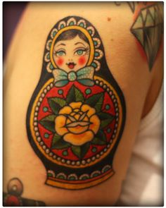 It's a MATRYOSHKA! Not a babushka. So annoying. But this is a cute little tattoo.