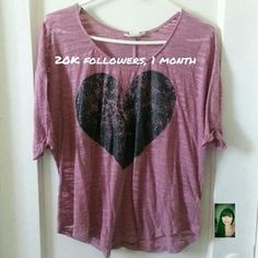 I just discovered this while shopping on Poshmark: Heart Top. Check it out!  Size: M