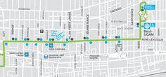 location of participating Stationnement de Montréal pay stations