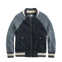 Boys' cotton twill bomber jacket : sweaters | J.Crew