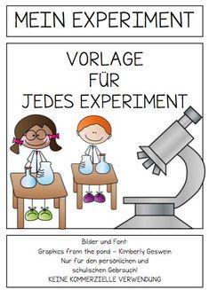 Mein Experiment, Experiment, experimentieren, Vorlage, kreativ, AFS-Methode, schreiben, lesen