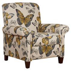 Papillion Reclining Arm Chair - Wildflower Meadow on Joss & Main