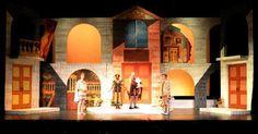 A Finny Thing Happen - A Finny Thing Happened on the Way to the Forum. West Virginia Public Theatre. Scenic design by Robert Klingelhoefer. 2016 --- #Theaterkompass #Theater #Theatre #Schauspiel #Tanztheater #Ballett #Oper #Musiktheater #Bühnenbau #Bühnenbild #Scénographie #Bühne #Stage #Set