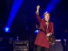 Paul McCartney performs during his 'Out There' tour at Candlestick Park in San Francisco on Aug. 14. The last time McCartney performed at Candlestick was with The Beatles for the Fab Four's final concert on Aug. 29, 1966.