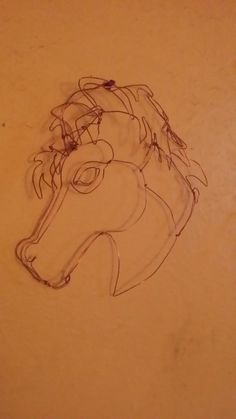 Twisted Art by phil, horses head