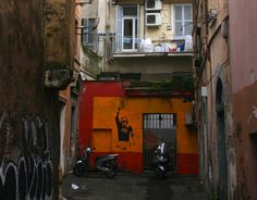 Street art hides in the nooks and crannies of Rome's Monti District