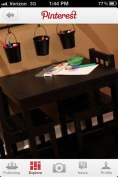 Playroom storage idea