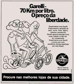Anúncio moto Garelli - 1975