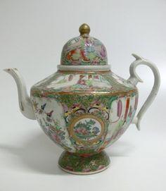 Teekanne China Famille Rose | Asiatika | Antik | Aparello