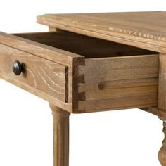 Huntington Lane French 1 Drawer Oak Natural Bedside & Reviews | Temple & Webster