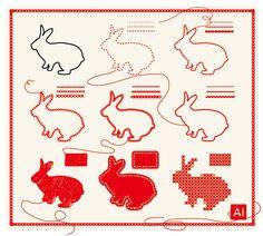 Illustratorで刺繍表現いろいろ | 鈴木メモ