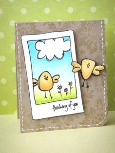 Card by Donna Mikasa using Purple Onion Designs stamps.