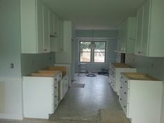 Cabinets going in