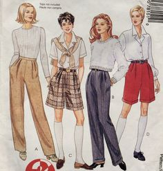 McCall's Women's Pants and Shorts Pattern, 2 Hour Pants and Shorts, Size Uncut Vintage Pattern McCalls 7815 Damen Hosen und Shorts Muster 2 Stunden Muster von DonnaDesigned 70s Fashion, Fashion History, Vintage Fashion, 80s Womens Fashion, Sporty Fashion, Fashion Boots, High Fashion, Winter Fashion, Fashion Outfits