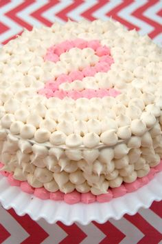 Aesthetic Nest: Party: Coral Chevron Dot Birthday - cute and simple.