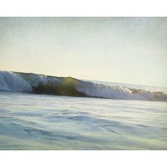 Beach House Decor, Oversized Art Print, Green Wall Art, Ocean... ❤ liked on Polyvore featuring home, home decor, wall art, surfing picture, ocean home decor, surf wall art, photo picture and sea wall art