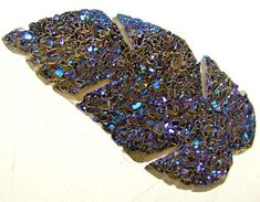 TITANIUM DRUSY LEAF 6.80 CTS TBG-1518  DRUSSY GEMSTONE CARVING,CARVING FROM GEMROCKAUCTIONS
