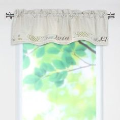"Brite Ideas Living Cotton Rod Pocket Tailored 52"" Curtain Valance"