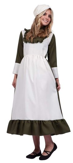 Adult Olive Colonial Peasant Woman Costume - Candy Apple Costumes - New 2017-2018 Costumes