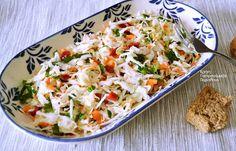 Απλή λαχανοσαλάτα σκέτη ή με σάλτσα γιαουρτιού - cretangastronomy.gr Potato Salad, Potatoes, Chicken, Meat, Ethnic Recipes, Food, Potato, Essen, Meals