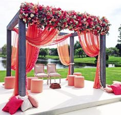 Last but not the least, the Wedding Mandap Decor. Where you are going to become one from two souls, the commitment and the promises taken to be with each other for life long, the wedding ceremony area/Mandap needs to be really pretty and special. Pink Centerpieces, Bridal Shower Centerpieces, Wedding Reception Centerpieces, Indian Wedding Decorations, Flower Decorations, Reception Ideas, Centerpiece Ideas, Wedding Receptions, Parties Decorations