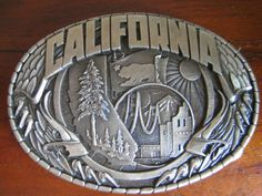 Belt Buckle with California Bear Flag | Bear Flag Museum