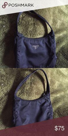Reduced!  Small nylon PRADA bag Gently used.  Authentic. Prada Bags Mini Bags