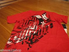 boy's Youth Hurley T shirt 6 NEW NWT surf skate ribbon red road tire tread logo
