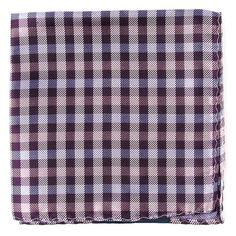Polo Plaid pocket square - Plum | Ties, Bow Ties, and Pocket Squares | The Tie Bar