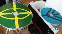 Vikings shield : Boucliers vikings : tutoriel pour la fabrication de boucliers pour un budget raisonnable sur  https://fabricationsenbois.wordpress.com/ (Pour fabriquer vous même une réplique du bouclier de Lagertha ! ;))