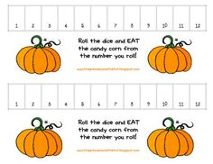 Pumpkin Counting Game  Autumn/Fall/Pumpkin Theme