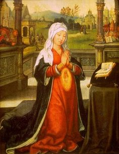 ehan Bellegambe l'ancien: Sainte-Anne concevant la Vierge Marie, 1520 (St Ann conceiving Virgin Mary aka Virgin Mary conceived by Saint Ann) Blessed Mother Mary, Blessed Virgin Mary, Catholic Art, Religious Art, Religion Catolica, Santa Ana, Immaculate Conception, St Anne, Holy Mary