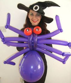 Balloon Modellers in witches costumes